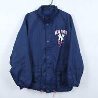 NEW YORK YANKEES Vintage Mens Blue Zip Up Tracksuit Top Jacket SIZE Medium