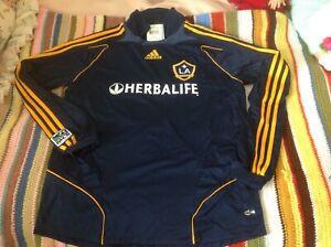New mens adidas David beckham Los Angeles Galaxy soccer futbol jersey XL 2007