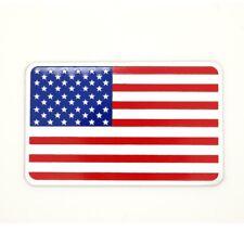 Sticker 3D drapeau USA Etats Unis en métal pour voiture adhésif autocollant