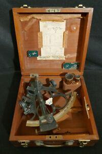 Antique LJ Harri Amsterdam 1213 Sextant Complete & Case 'JH Koejemans' Scarce VG