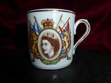 Vintage Queen Elizabeth II CORONATION MUG Durham China Royal Commemorative Ware