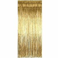 2m Shimmer Foil Glitter Tinsel Metallic Wedding Party Backdrop Curtain Window