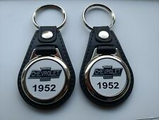 1952 CHEVY KEYCHAIN 2 PACK CLASSIC  TRUCK LOGO CHEVY FOB EMBLEM