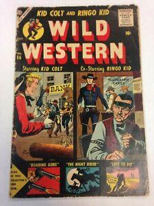 Wild Western #56 July 1957 Kid Colt Ringo Kid Atlas Comics