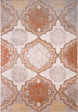 "Taupe Orange Transitional Modern 5x7 Area Rug Floral Carpet -Actual 5'2"" x 7'2"""