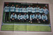 GRAND POSTER *  EQUIPE de FRANCE / LES BLEUS 1983 pré signé