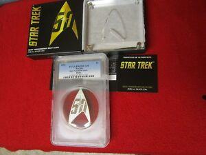 2016 Star Trek Delta 50th anniversary Silver Coin PCGS PR PF 69 DCAM