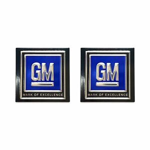 2 GM Black Lap Seat Belt Deluxe Push button Stickers Decals 50s 60s 70s 80s LSX