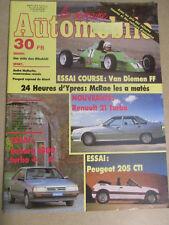 LA SEMAINE AUTOMOBILE: n°38: 04/07/1987: RENAULT 21 TURBO - PEUGEOT 205 CTI -