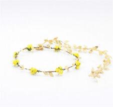 Fashion Women Gold Leaf Flower Tiara Headband Head Piece Hair Band Hair Jewelry