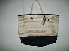 Lauren RALPH LAUREN LRL Logo Embroidered CASCO Beach TOTE Bag Purse $98 NEW
