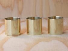 3 Walking Cane Brass Collars Polished Finish 7/8 X 1 Walking Cane Parts Ferrule