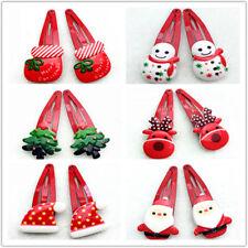 10pcs Christmas Cartoon Hair Clip Hairpins for Children Girls Hair Accessories