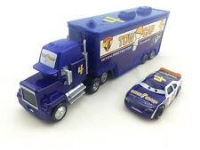 Cars #4 Tow Cap Mack Hauler Truck & Racer Diecast Toy Car 1:55 Loose Vehicle New