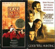 Dead Poets Society VHS 1995 & Good Will Hunting 1997 Robin Williams Matt Damon
