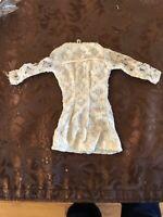 BARBIE CLONE VINTAGE HONG KONG WHITE & SILVER DRESS