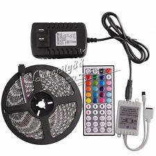 5050 SMD RGB 5M Waterproof LED Strip Lights 300leds + 44Key IR + 5A Supply Power
