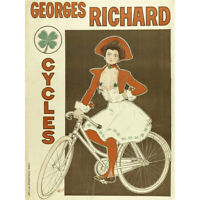 George Richard Cycles Paris Bicycle Advert Canvas Art Print Poster