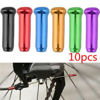 Colorful 10pcs Bicycle Bike Brake Cable Shifter Wire End Crimps Ferrules Cap
