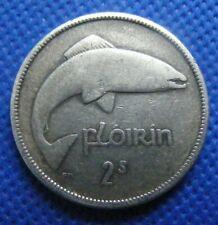 Irish 1939 Silver Two Shilling Florin Coin Old Vintage Ireland Original Salmon