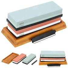400/1000+3000/8000 Grit Premium Whetstone Cut Sharpening Water Wet Stone Set UK