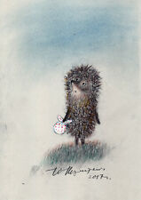Hedgehog in the Fog Right Up Looking Original Drawing by Y. Norstein/Norshteyn