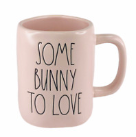 Rae Dunn Mug PINK Easter SOME BUNNY TO LOVE Ceramic Cup DW Safe Magenta New