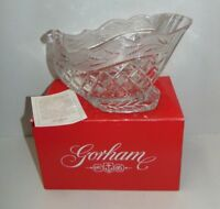 Gorham Holiday Traditions Crystal Centerpiece Bowl C700