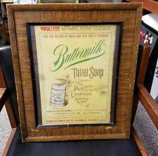 1890's Authentic BUTTERMILK Toilet Soap Original Magazine Back Cover AD Framed