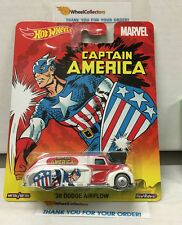 Pop Culture Marvel * '38 Dodge Airflow CAPTAIN AMERICA * Hot Wheels * B10