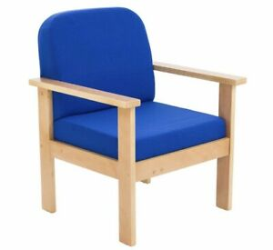 Juplo Wooden Reception Unit with Arms Royal - Blue