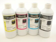 4X 1000ml Dye Refill Ink For Epson Refillable Cartridges CIS CISS B Y M C
