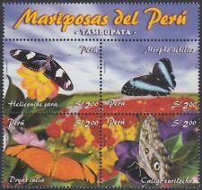 Perú 1534/37 2006 Fauna Mariposas Butterfly MNH