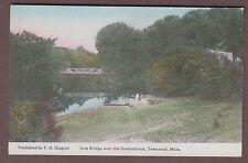 Iron Bridge Over The Squannicook Townsend Massachusetts c1915 Postcard