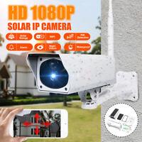 Solar HD 1080P Wireless IP Security Camera System WiFi CCTV PIR Motion Sensor