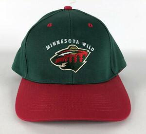 Minnesota Wild Snapback Baseball Hat by Drew Pearson Green & Red