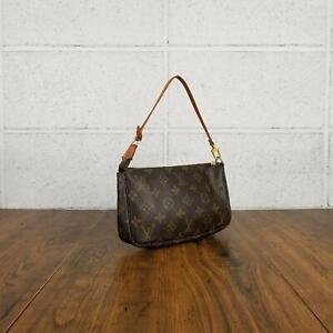 100% Authentic Louis Vuitton monogram Pochette access Soir M51980 Used 4
