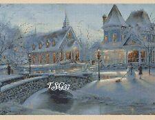 Gráfico de punto de cruz-De Navidad aldea 376.TSG37.