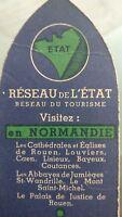 """Rare Marque Pages Ancien"""""""" État français """"""""réseau de tourisme.ww2."""