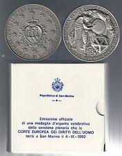 SAN MARINO 1992 medaglia ag corte europea dei diritti dell'uomo ufficiale