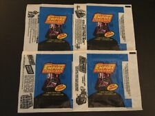 (4) EMPIRE STRIKES BACK SERIES 2 WAX WRAPPERS 1980 TOPPS