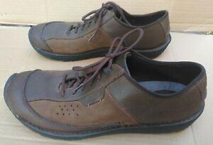 KEEN Dillon 13059-SLBK Mens Brown Leather Casual Oxfords sz 14 M VGC Light Wear