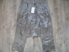 Met elegantes 3/4 pantalón cagado sarong seda Bloom Taupe talla 27 nuevo hmi817