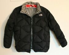The North Face Puffer Coat Down 550 Girls Size XL (18) Reversible Black