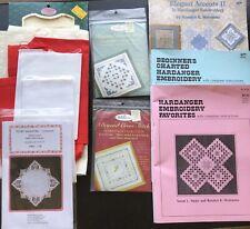 Big Lot Of Hardanger Cross Stitch New Kits, Patterns Books And Fabric $70+