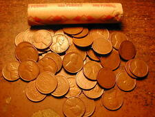 1942-D LINCOLN WHEAT CENT PENNY ROLL, nice condition