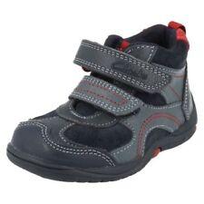 Chaussures bleus avec boucle en cuir pour bébé