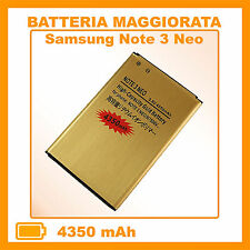 BATTERIA da 4350Mah PER SAMSUNG GALAXY NOTE 3 NEO GT N7505 MAGGIORATA POTENZIATA