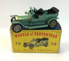 Matchbox Models Of Yesteryear Rolls Royce Silver Ghost Y-15 Boxed 8cm In Length