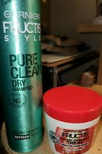 "GARNIER FRUCTIS STYLE ""PURE CLEAN"" DRY SHAMPOO &COLOR VIBRANCY HAIR MASK"